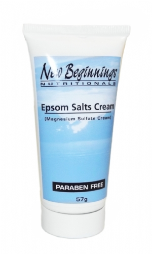 Epsom Salts Cream - Magnesium Sulfate Cream (2 oz)